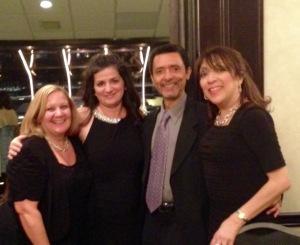 Isabel Cabrera, AT&T, Mildred Medina, Merck, Jesus Nolasco, Music Director with Bea Ramirez, TRC